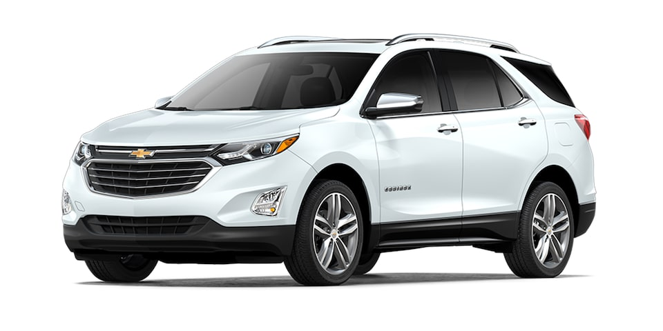 Chevrolet Equinox 2021, camioneta mediana en color blanco