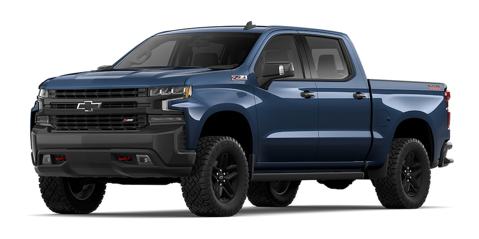 Cheyenne 2020 pickup doble cabina color azul metálico